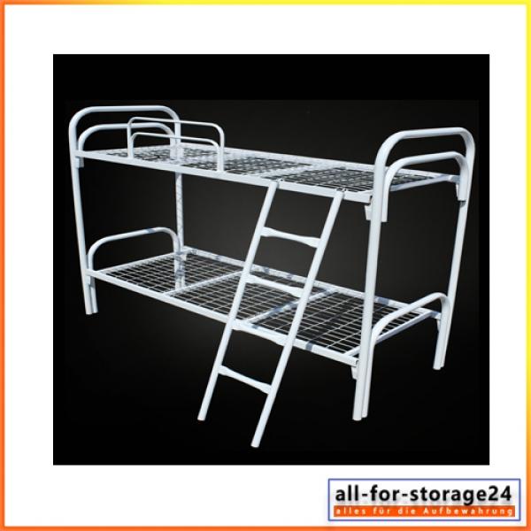 etagenbett km240 metallbett mit lattenrost komplett. Black Bedroom Furniture Sets. Home Design Ideas