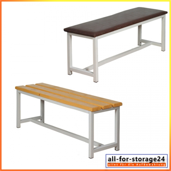 Umkleidebank mit Holzsitzfläche oder Gepolstert - garderobenbank ...