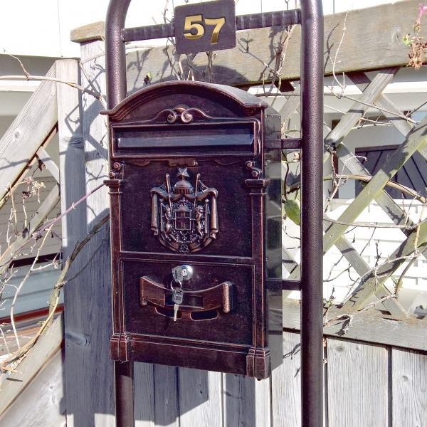 standbriefkasten antik retro briefkasten briefkasten mit st nder freistehend ebay. Black Bedroom Furniture Sets. Home Design Ideas